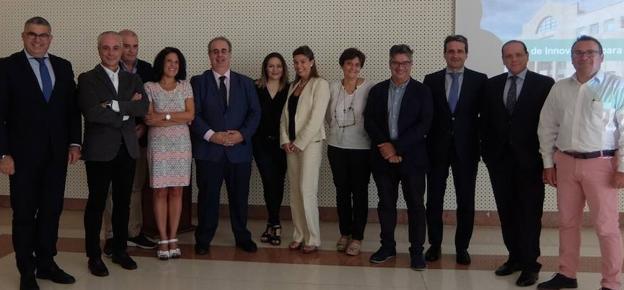 Comité de expertos que participaron en la primera reunión para la creación de la Cátedra de Innovación en la Facultad de Comercio de la UVA.