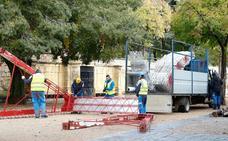 Comienza la instalación de las luces navideñas en Salamanca