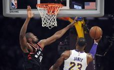Serge Ibaka vive su gran noche en el Staples Center y se exhibe ante LeBron James
