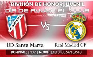 El Santa Marta declara como 'Día de ayuda al club' el partido del juvenil ante el Real Madrid