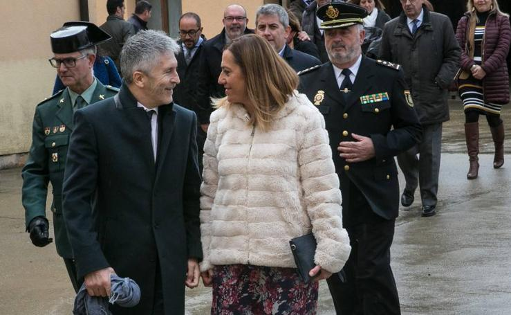 Grande-Marlaska visita Berlanga de Duero (Soria)