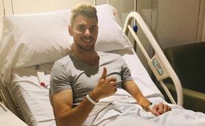 Vivi, del Salamanca CF, pasa satisfactoriamente por el quirófano en Barcelona