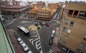 Las calles Pólvora y Covadonga estarán cortadas desde hoy por las obras de la Plaza Luis Braille