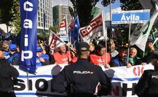 Concentración de funcionarios de prisiones en Valladolid