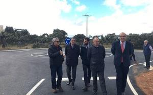 Finalizan las obras de mejora de la carretera de acceso a Los Montalvos