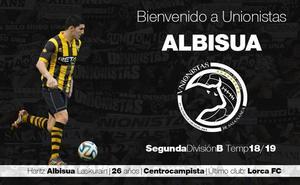 Unionistas se refuerza con el centrocampista Haritz Albisua tras la lesión de Cendrós