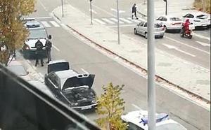 Circula drogado en un coche sin ITV por Parquesol y con un arma y cocaína