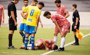 La lesión de Ayub apunta a grave en el Guijuelo y Razvan y Fuster 'solo' estarán semanas de baja