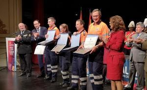 Medalla de Plata de la Junta para los voluntarios de Protección Civil de Palencia