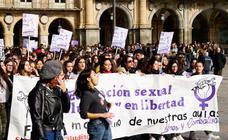 Manifestación de estudiantes por la educación sexual inclusiva en Salamanca