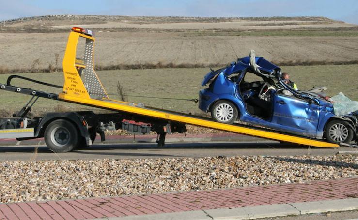 Un muerto y tres heridos en un accidente en Cuéllar