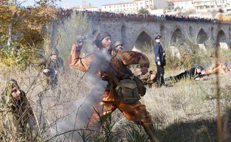 Recreación en Zamora de la Batalla de Stalingrado