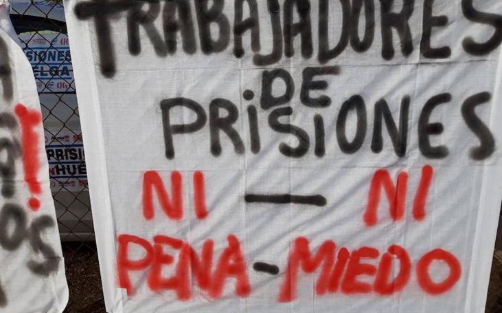 Las imágenes que ha dejado la huelga de prisiones del sábado