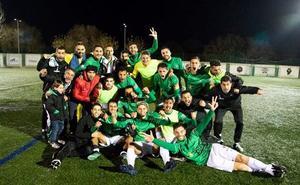 Machada de los 'once' del CD Guijuelo venciendo al filial del Atlético de Madrid (1-0)