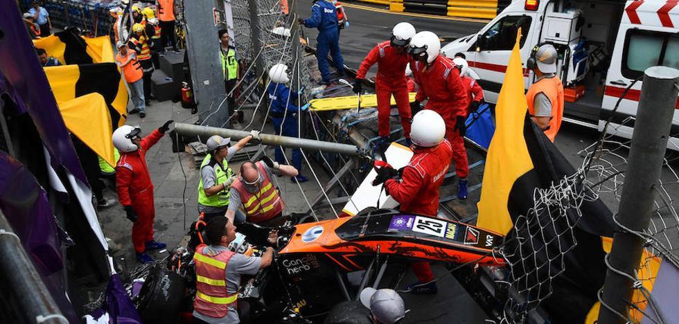 Escalofriante accidente de Sophia Floersch en el GP de Macao