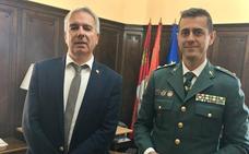 El teniente coronel Campos se incorpora a la Comandancia de la Guardia Civil de Palencia