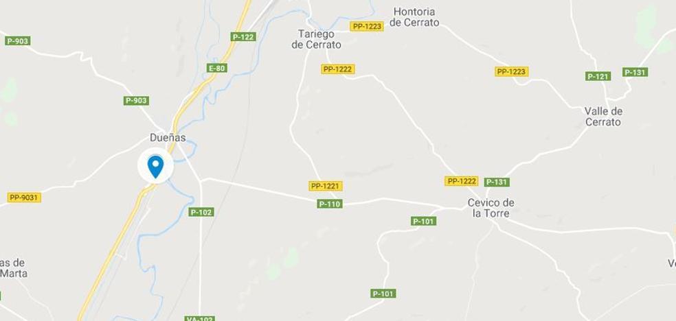 El incendio de un camión corta un carril de la A-62 en sentido Valladolid a la altura de Dueñas