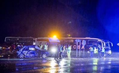 Muere un joven en una colisión entre un turismo y un camión en Alcazarén