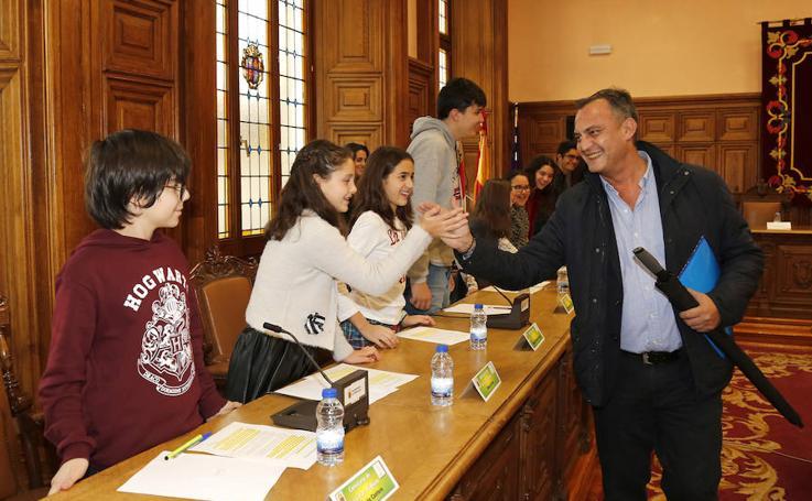 Pleno Infantil en el ayuntamiento de Palencia