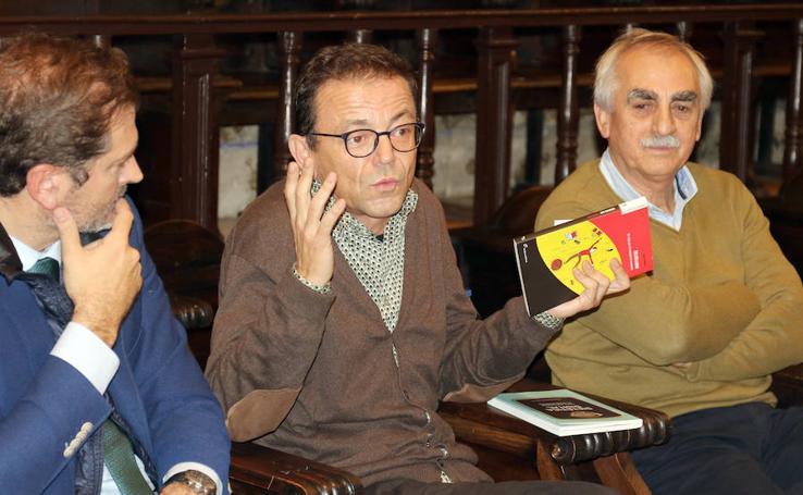 Víctor Sampedro, en el Aula de Cultura de El Norte de Castilla