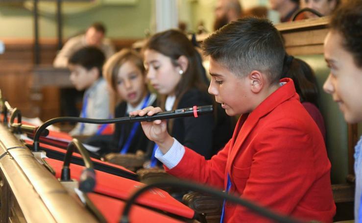 Pleno Municipal de la Infancia en el Ayuntamiento de Valladolid