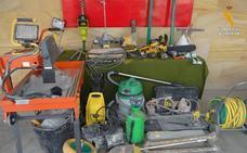 Detenido un empresario por robar herramientas de construcción en una nave del polígono de Riaza