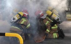 Simulacro por incendio en la base militar de El Empecinado