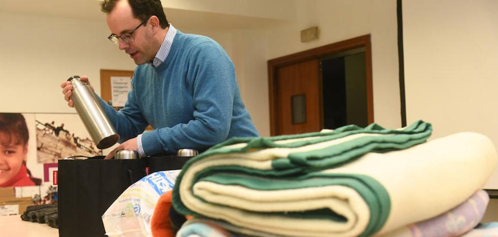 Ropa de abrigo para las personas sin hogar de Valladolid