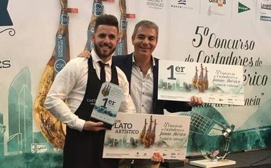 El salmantino Geovanny Almanza, mejor cortador de jamón ibérico