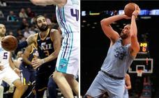 Los españoles Ricky Rubio y Marc Gasol brillan y sus equipos ganan en la NBA