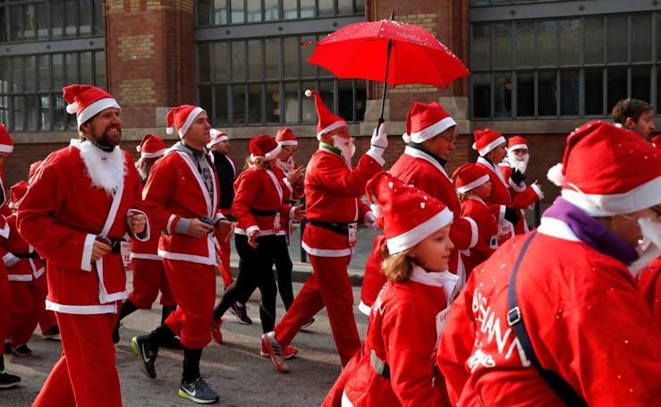 Papá Noel a la carrera