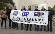 Representantes de sindicatos policiales piden el cese del jefe de la UIP de Valladolid