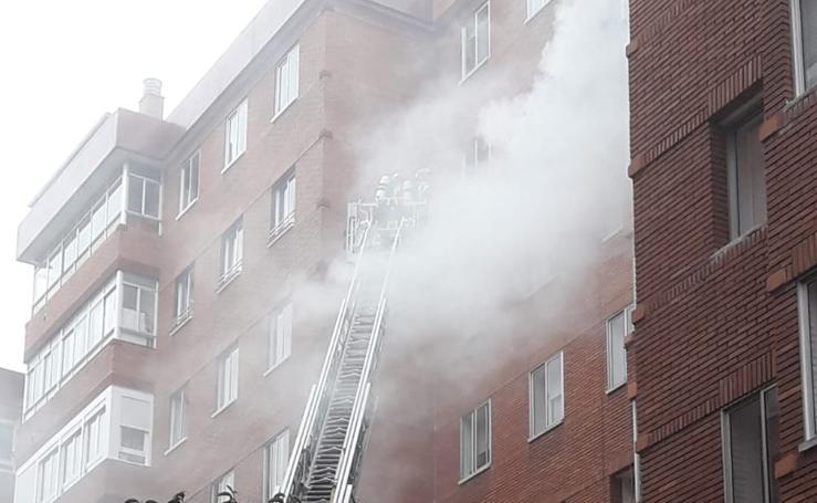 Incendio en el Paseo de San Vicente