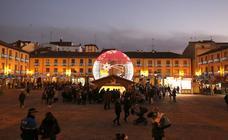 El encendido navideño abre la Navidad en Palencia