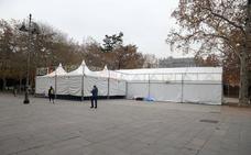 La pista de hielo del parque del Salón de Palencia se inaugurará esta tarde