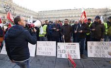 La Policía Local de Salamanca protesta a las puertas del Ayuntamiento