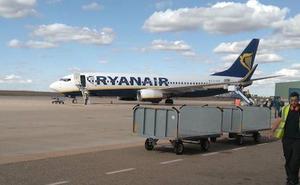 Cancelados los dos vuelos previstos en el aeropuerto de Villanubla