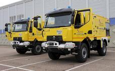 Zamora recibe dos nuevas autobombas para el servicio de extinción de incendios forestales