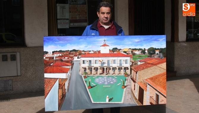 Fallece el pintor Tomas Villoria tras caer desde cinco metros cuando pintaba un mural en unas bodegas de Aldeadávila de la Ribera