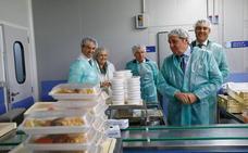 La línea fría del Hospital de Zamora distribuye 141.625 menús en el último año