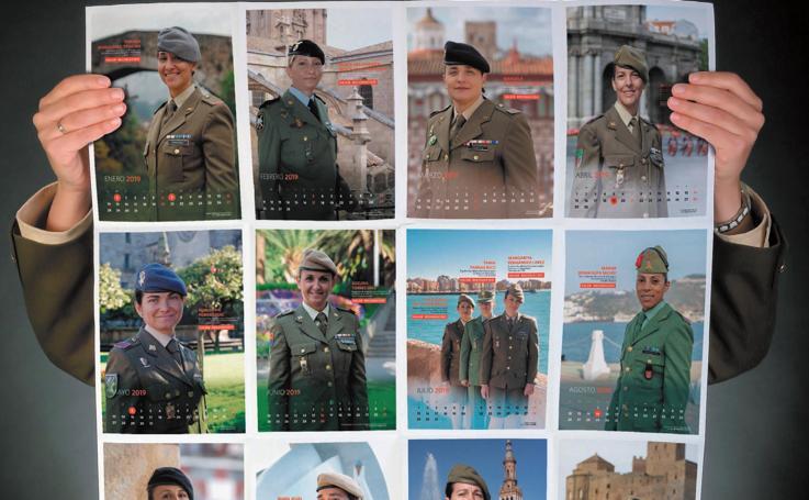 Mujeres con Valor 2019, el calendario del Ejército de Tierra