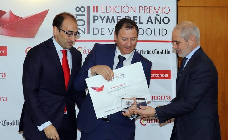 Entrega de los premios Pyme del Año en la Cámara de Comercio de Valladolid