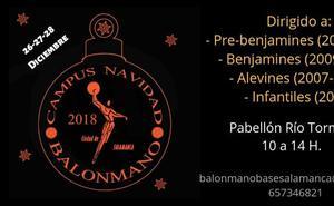 El Club Balonmano Ciudad de Salamanca da a conocer su Campus de Navidad 2018