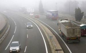 La niebla complica el tráfico en varias carreteras de Valladolid, Palencia, León, Salamanca y Zamora