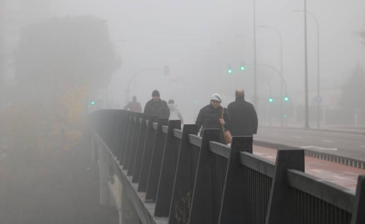 Jornada de niebla en Valladolid