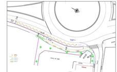 La rotonda de entrada a Palencia de La Yutera mejorará el acceso al aparcamiento de la Universidad