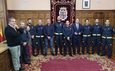 Siete bomberos se incorporan al parque de extinción de incendios de Palencia