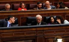 Sánchez ensaya la estrategia electoral en el Congreso ante su soledad en la crisis catalana