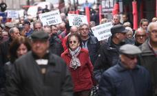 Protesta en Valladolid para reclamar pensiones dignas