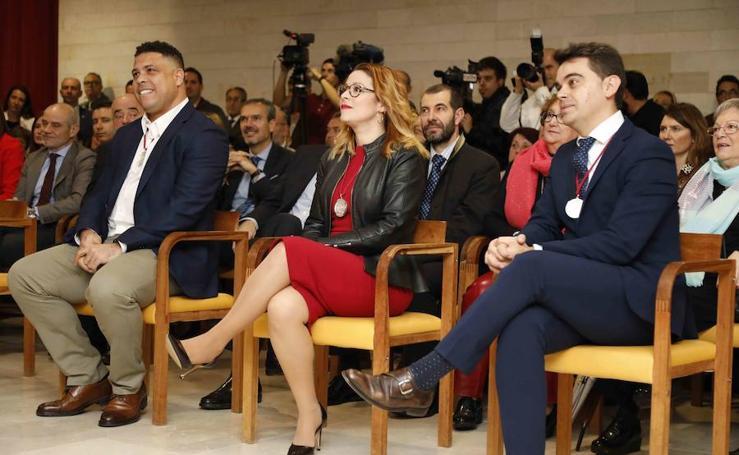 Ronaldo Nazário, Almudena Alberca y Pedro Ruiz Aragoneses, Alcaides de Honor 2018 del Museo del Vino de Peñafiel